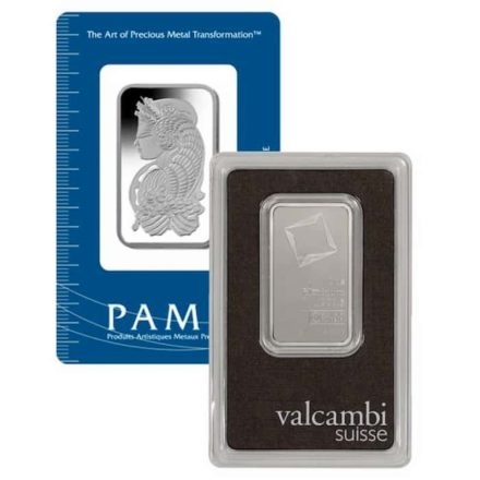 1 oz Platinum Bar In Assay Card