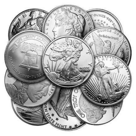 1 oz Silver Round - Random Mint - Condition Varies