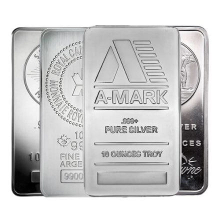 10 oz Silver Bar- Any Mint, Any Condition