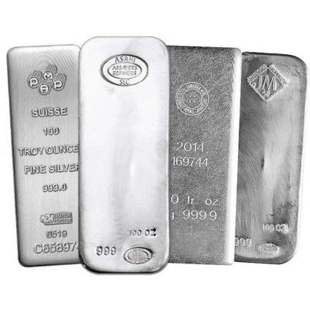 100 oz Silver Bar - Random Mint - Condition Varies