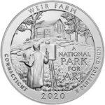 2020 5 oz ATB Weir Farm Silver Coin