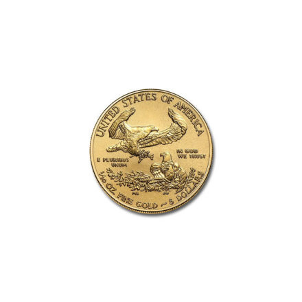 2020 American Gold Eagle 1/10 oz Coin Reverse