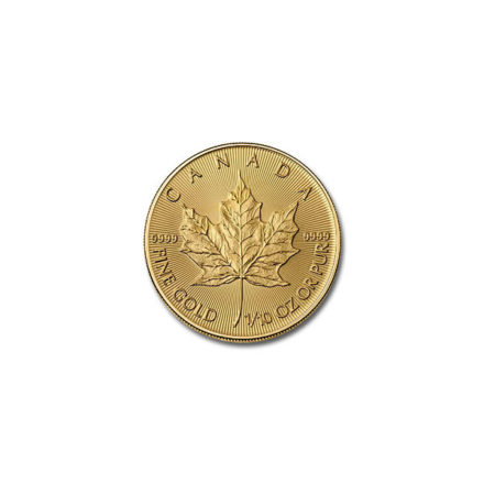 2020 Canadian Gold Maple 1/10 oz Coin