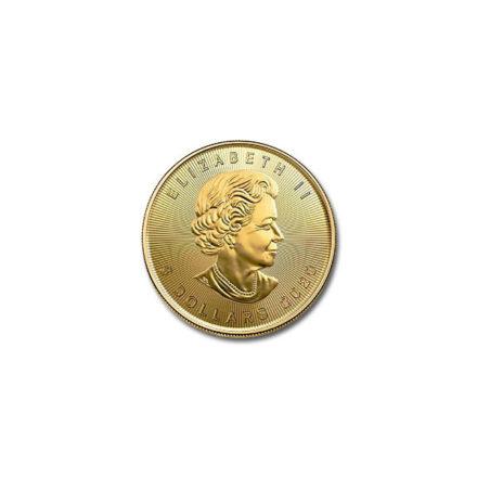 2020 Canadian Gold Maple 1/10 oz Coin Effigy