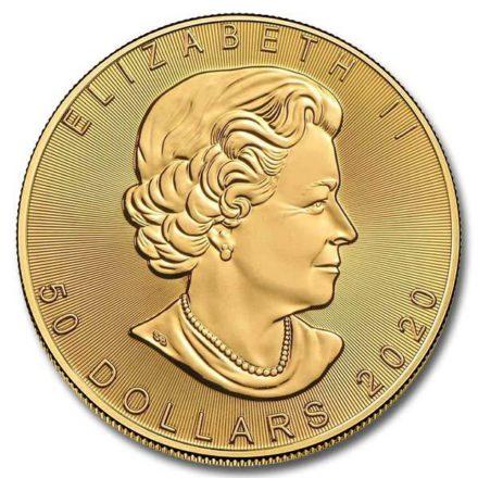 2020 Canadian Gold Maple 1 oz Coin Effigy