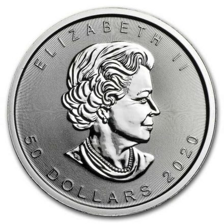 2020 Canadian Platinum Maple 1 oz Coin Obverse