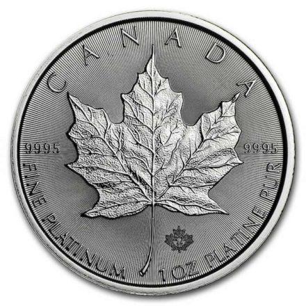 2020 Canadian Platinum Maple 1 oz Coin Reverse