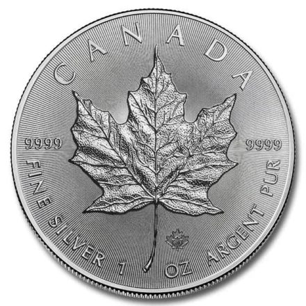 2020 Canadian Silver Maple 1 oz Coin Obverse