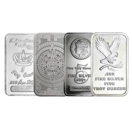 5 oz Silver Bar- Any Mint, Any Condition