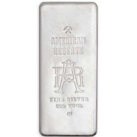American Reserve 100 oz Silver Bar