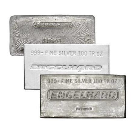 Engelhard 100 oz Silver Bar