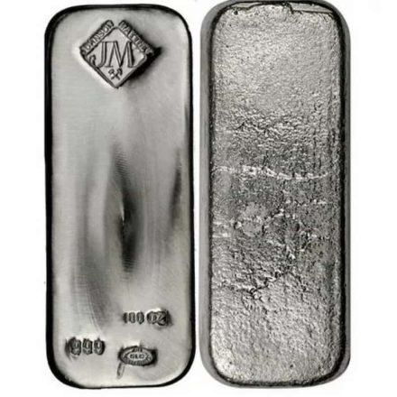 Johnson Mathey 100 oz Silver Bars