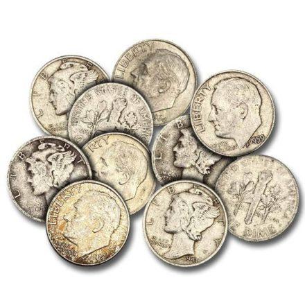 US Mint Junk 90% Silver Dimes