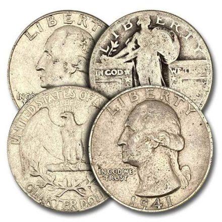 US Mint Junk 90% Silver Quarters