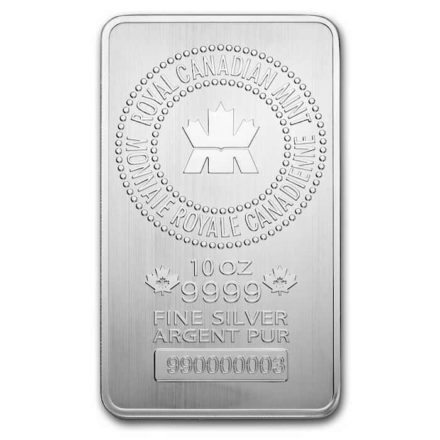 RCM 10 oz Silver Bar