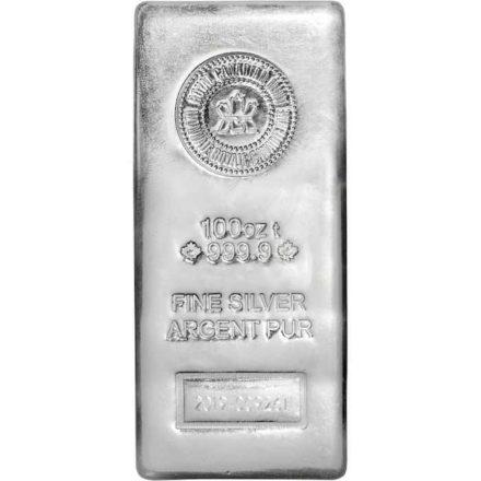RCM 100 oz Silver Bar
