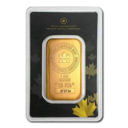 Royal Canadian Mint Gold 1 oz Bar in Assay Card