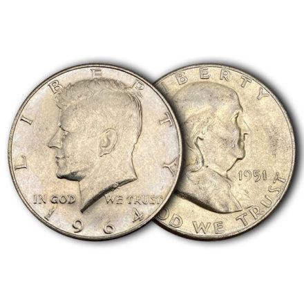 Junk 90% Silver Halves from the US Mint