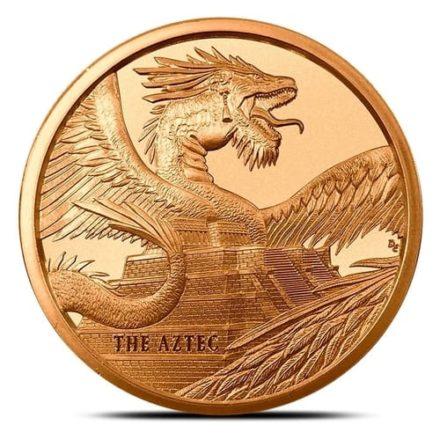 Aztec Dragon 1 oz Copper Round