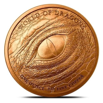 Aztec Dragon Copper Round