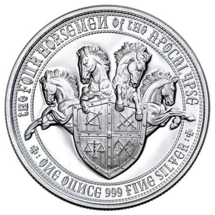 Four Horsemen Black Horse of Famine 1 oz Silver Round