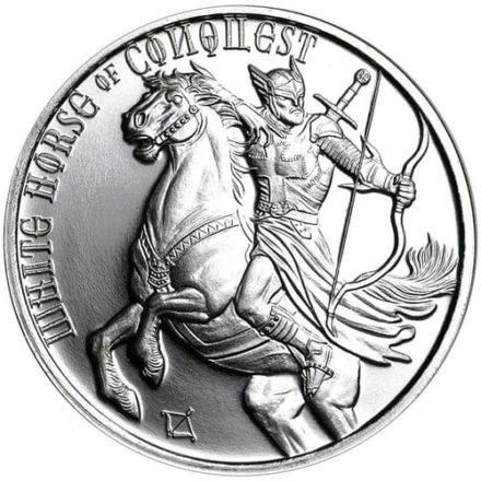 Four horsemen white horse conquest 1 oz silver round
