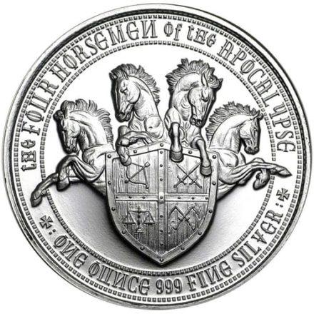 Four horsemen white horse conquest silver round