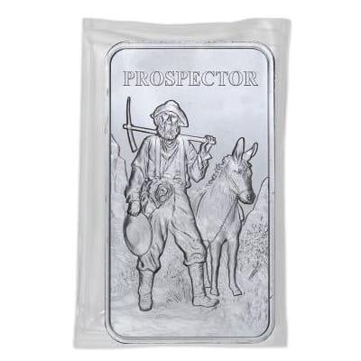 Prospector 10 oz Silver Bar
