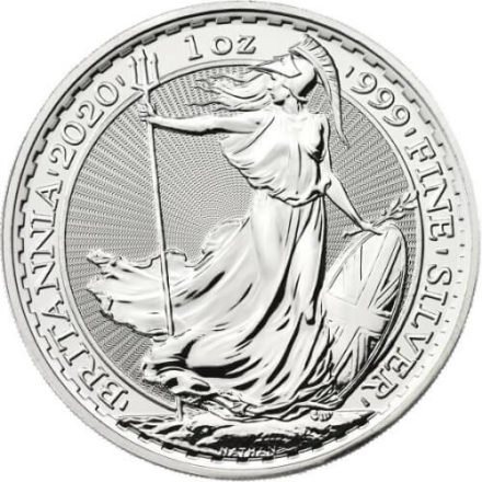 2020 British Silver Britannia Coin Obverse