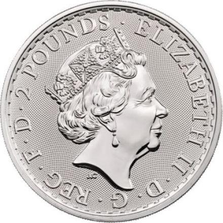 2020 British Silver Britannia Coin Reverse