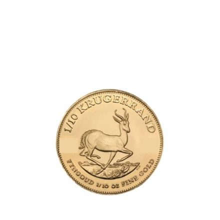 1/10 oz Gold South African Krugerrand Reverse