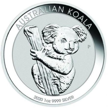 2020 1 oz Silver Koala Coin Reverse