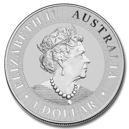 2020 Australia 1 oz Silver Kangaroo Coin Effigy