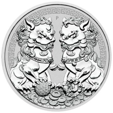 2020 Australian 1 oz Silver Double Lion Pixiu Coin
