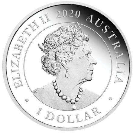 2020 Australian 1 oz Silver Double Lion Pixiu Coin Obverse