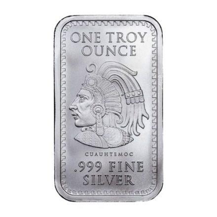 Aztec Calendar 1 oz Silver Bar Reverse