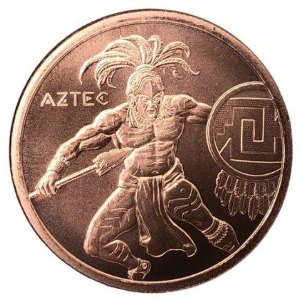 Aztec Warrior 1 oz Copper Round Obverse