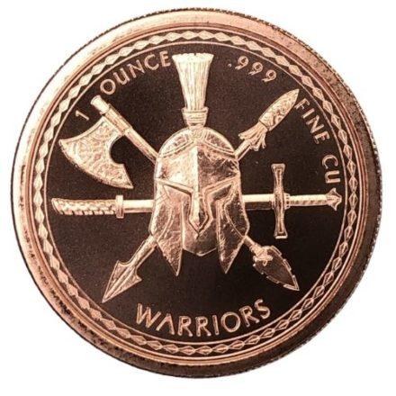Aztec Warrior 1 oz Copper Round Reverse