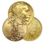 Gold Coins Eagles, Buffalos, Maples
