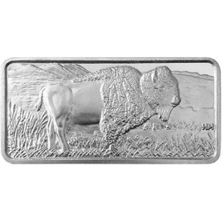 HM Buffalo 10 oz Silver Bar Front