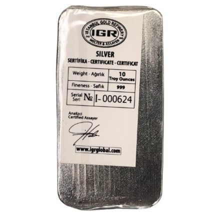 IGR 10 oz Silver Bar Back