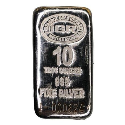 IGR 10 oz Silver Bar Front