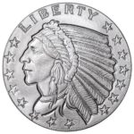 Incuse Indian 1 oz Silver Round Obverse