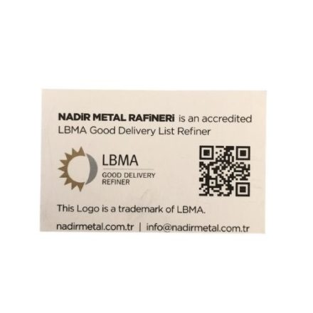 Nadir Certificate Back