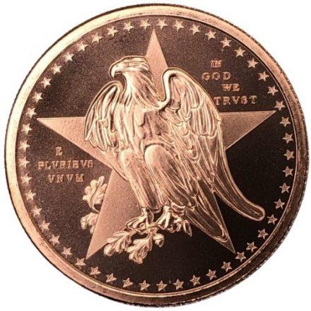 Texas Commemorative Copper Round Reverse