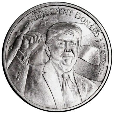 Trump 2020 1 oz Silver Round Obverse