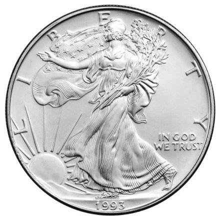 1993 American Silver Eagle Coin Obverse