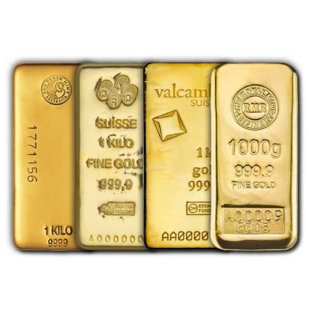 I Kilo 9999 Fine Gold Bars