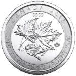 1.5 oz Canadian Silver SuperLeaf Coin Obverse