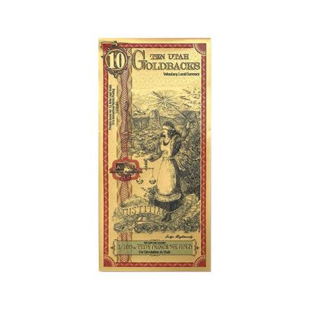 10 Utah Goldback Aurum Gold Note